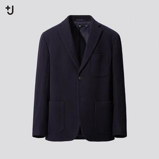 ユニクロ(UNIQLO)の新品未使用 UNIQLO +J ウールブレンドオーバーサイズジャケット M(テーラードジャケット)