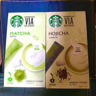 Starbucks Coffee - 抹茶 & ほうじ茶  各5本   スターバックス Starbucks ヴィア®
