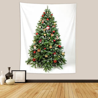 クリスマスツリー クリスマスタペストリー 壁掛け 装飾 飾り付け 150×130