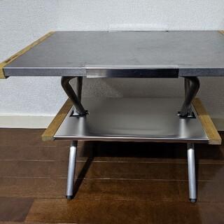 ユニフレーム(UNIFLAME)のユニフレーム焚き火テーブル(中古)&ラック(ハンドメイド品未使用)(テーブル/チェア)