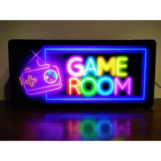 GAME ゲーム ルーム 部屋 Eスポーツ 看板★LED2wayライトBOX(その他)