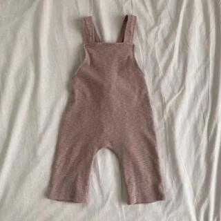 こども ビームス - くすみピンク オーバーオール サロペット 70 80 ベビー服 赤ちゃん 冬