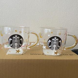 Starbucks Coffee - スターバックス ホリデー2020ビーズハンドル耐熱グラスマグスター 296ml