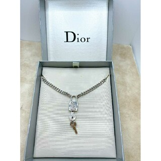Christian Dior - CD446 未使用【Dior ディオール】ネックレス 南京錠 カデナ鍵 シルバー