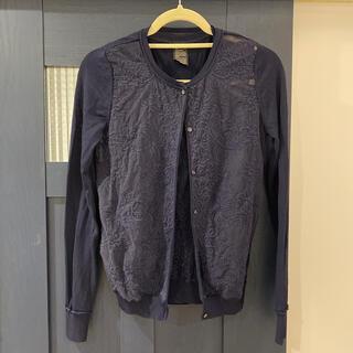 ダブルスタンダードクロージング(DOUBLE STANDARD CLOTHING)のダブスタ ダル糸刺繍 アンサンブル(ニット/セーター)