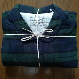 MUJI (無印良品) - 無印良品MUJI   脇に縫い目のないフランネルパジャマ