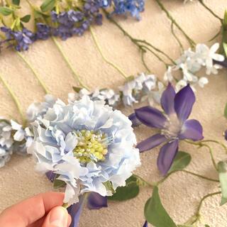 フランフラン(Francfranc)のアーティフィシャルフラワー(造花)青 ブルー系 花材(ブーケ)