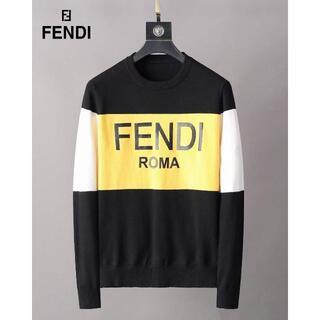 FENDI - ストライプセーター 丸襟ニット  ウールFENDIフェンディM-3XL