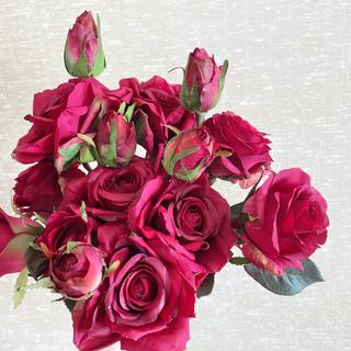 フランフラン(Francfranc)のアーティフィシャルフラワー(造花)パープル 紫 バラ 薔薇 花材(ブーケ)