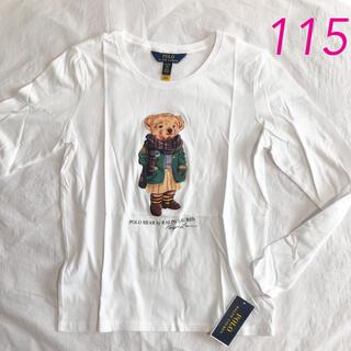 ポロラルフローレン(POLO RALPH LAUREN)のラルフローレン ポロベア ガールズロンT ホワイト 5/115(Tシャツ/カットソー)