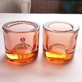 イッタラ(iittala)のiittala kivi ピンクとサーモンピンクの中間色(グラス/カップ)