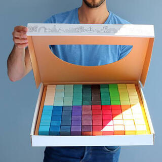 ボーネルンド(BorneLund)のグリムス 虹のモザイクブロック 100個セット ラージ(積み木/ブロック)