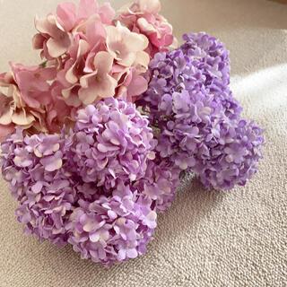 フランフラン(Francfranc)のアーティフィシャルフラワー(造花)花材 紫陽花 ふわふわ スタジオ撮影(ブーケ)
