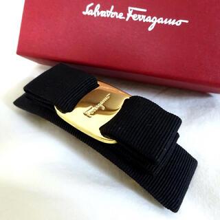 Ferragamo - 【極美品〜美品】サルバトーレ フェラガモ  バレッタ/ブラック×ゴールド