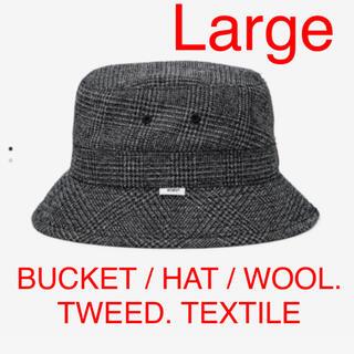 ダブルタップス(W)taps)の BUCKET / HAT / WOOL. TWEED. TEXTILE 黒(ハット)