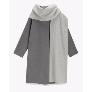 theory - Theory Wool Divide Scarf Coat