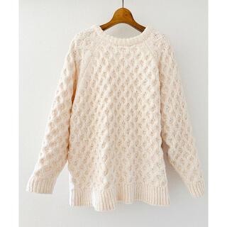 ZARA - [美品]チャンキー  knit ♡TOP SHOP ホワイトベージュ
