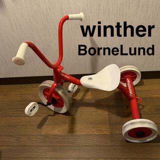 ボーネルンド(BorneLund)の☆ ボーネルンド三輪車 ペリカンデザイン Vハンドル  赤 (三輪車)