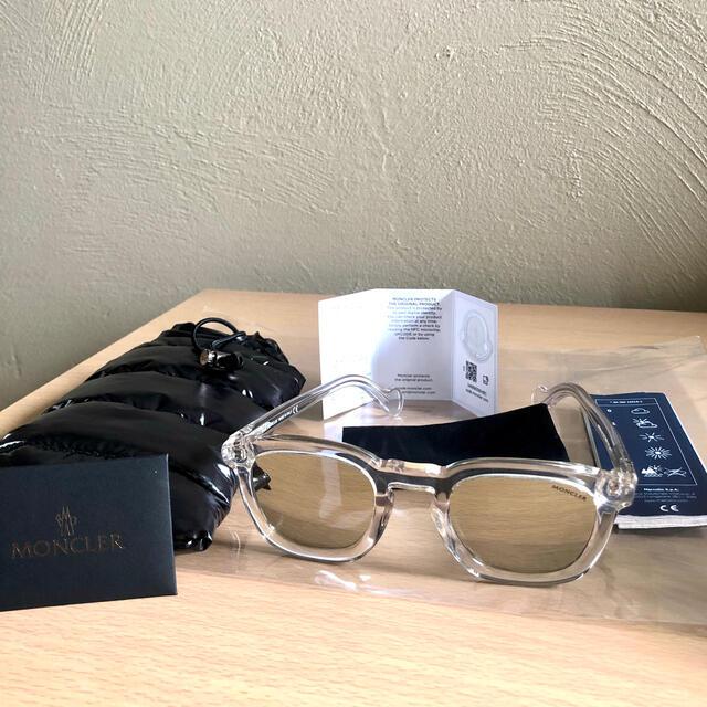 MONCLER(モンクレール)のMONCLER クリアフレーム ミラーサングラス  メンズのファッション小物(サングラス/メガネ)の商品写真