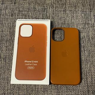Apple - iPhone12mini 純正 レザーケース サドルブラウン