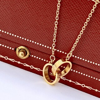 Cartier - カルティエ LOVE ネックレス ラブネックレス K18PG