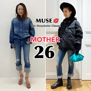 DEUXIEME CLASSE - MUSE【MOTHER/マザー】 DAMEGE ROLLUP DENIM 26