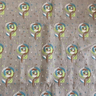 mina perhonen - ミナペルホネン sand rose グリーンミックス インテリアファブリック
