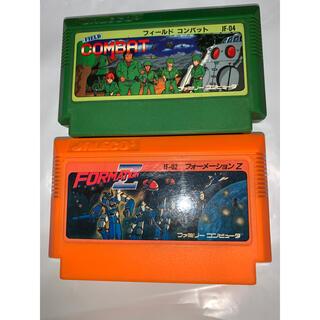 ファミリーコンピュータ(ファミリーコンピュータ)のファミコンソフト2個セット フィールドコンバット フォーメーションZ(家庭用ゲームソフト)