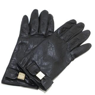 ケイトスペードニューヨーク(kate spade new york)のケイトスペード 手袋 レディース 黒 リボン(手袋)