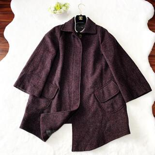 FENDI - 美品 FENDI フェンディ  メルトン 絹 コート ウール