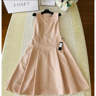 FOXEY - フォクシー ワンピース Out Pleat Dress