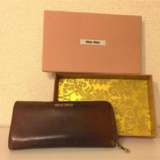 new arrival a6352 341df ミュウミュウ 革 財布(レディース)(チェック)の通販 2点 ...