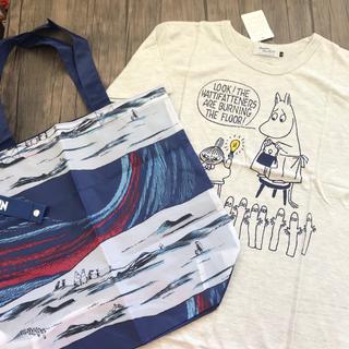 リトルミー(Little Me)の【新品】ムーミン Tシャツ エコバッグ 2点セット ミイ(Tシャツ(半袖/袖なし))