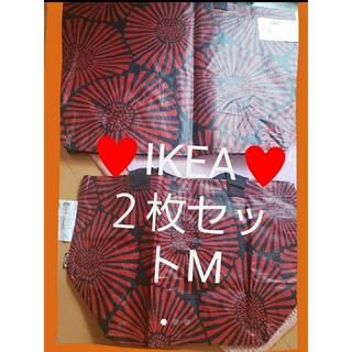 IKEA - 新製品★Mサイズ2枚【IKEA】 インルップ ♥️ショッピングバッグ エコバッグ