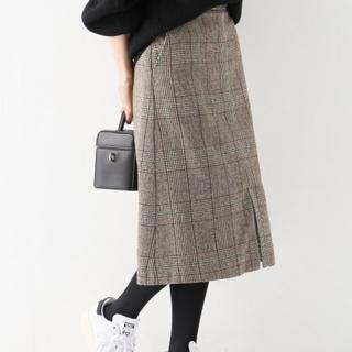 IENA SLOBE - SLOBEIENA グレンチェックAラインスカート ブラウン