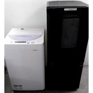 ミツビシデンキ(三菱電機)の高年式 冷蔵庫 洗濯機 生活家電セット 少し大きめ冷蔵庫(冷蔵庫)