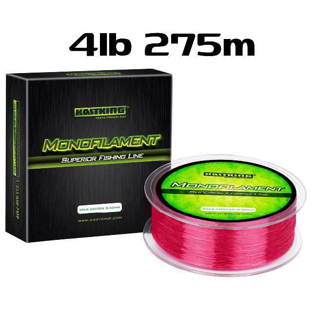 KastKing レッド 4lb 275m ナイロンライン カストキング スポーツ/アウトドアのフィッシング(釣り糸/ライン)の商品写真