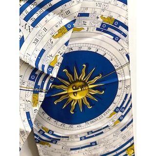 エルメス(Hermes)のエルメス ショール シルク ブルー コンパス柄 178センチ【中古】(ストール)