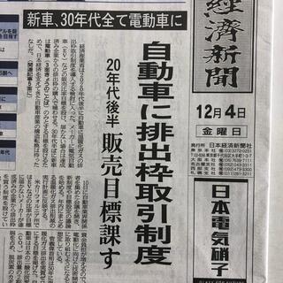 鬼滅の刃 新聞広告 日本経済新聞2020.12.4朝刊(印刷物)