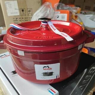 ストウブ(STAUB)の24cm  鋳鉄STAUB  エナメル鍋(食器)
