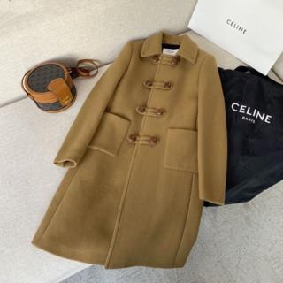 celine - CELINE 大人の上質ダッフルコート ウール