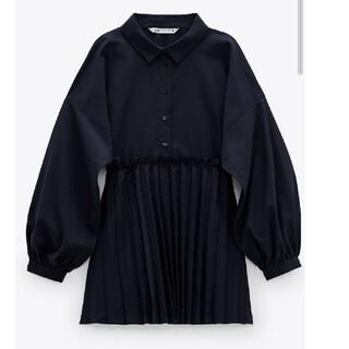 ZARA - プリーツシャツ♡タグ付き未使用