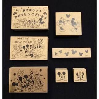 ディズニー(Disney)の【新品】Disney×DAISO スタンプセット(7種)(印鑑/スタンプ/朱肉)
