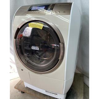 ヒタチ(日立)の日立 ドラム式洗濯乾燥機10Kg ナイアガラ洗浄、自動お掃除 BD-V9700R(洗濯機)