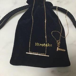 ユナイテッドアローズ(UNITED ARROWS)のヒロタカ ロング バーネックレス ダイヤ hirotaka ユナイテッドアローズ(ネックレス)
