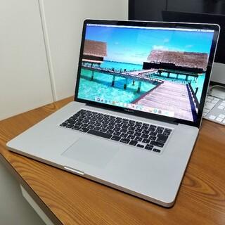 マック(Mac (Apple))の超美品 Macbook Pro 17インチ 16GB/SSD240GB(ノートPC)