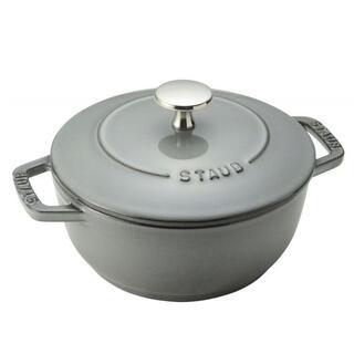 ストウブ(STAUB)の新品正規品 staub ストウブ Wa-NABE M グレー 18cm(鍋/フライパン)