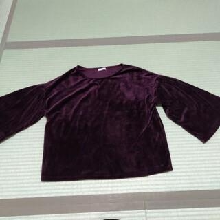 アーバンリサーチ(URBAN RESEARCH)のアーバンリサーチ 秋冬物紫ボルドーベロアトップス(カットソー(長袖/七分))