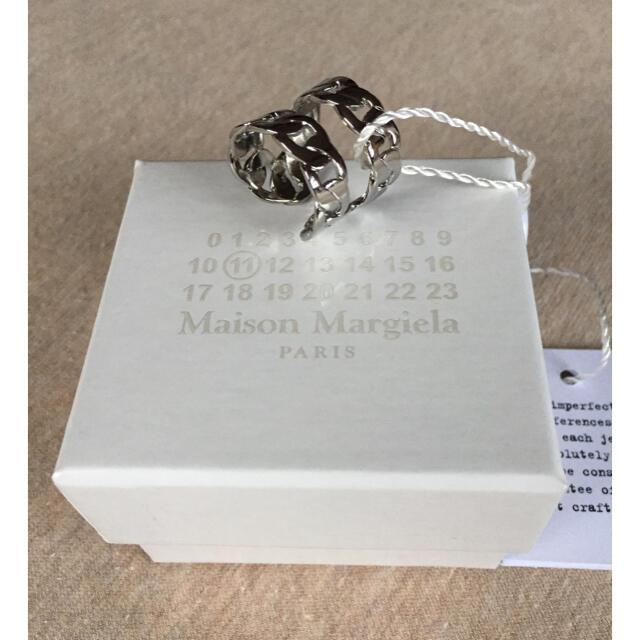 Maison Martin Margiela(マルタンマルジェラ)の20SS新品M メゾン マルジェラ 2連 チェーン リング 指輪 シルバー メンズのアクセサリー(リング(指輪))の商品写真