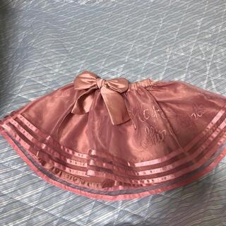 シャーリーテンプル(Shirley Temple)のピンク オーガンジースカート  80 (スカート)
